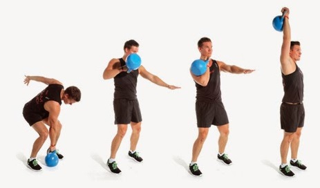 kettlebell clean jerk